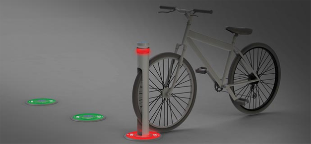 Rack a velo lumineux retractable