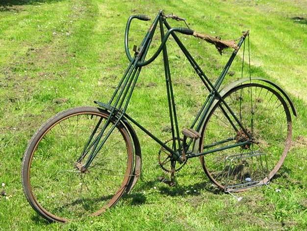 Old restored Pedersen bicycle