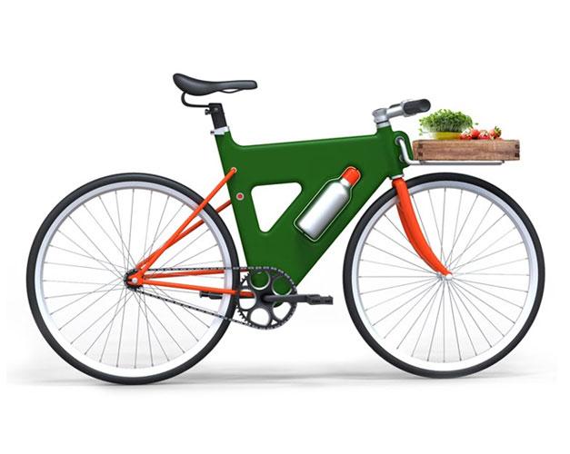 Plastic bike frame