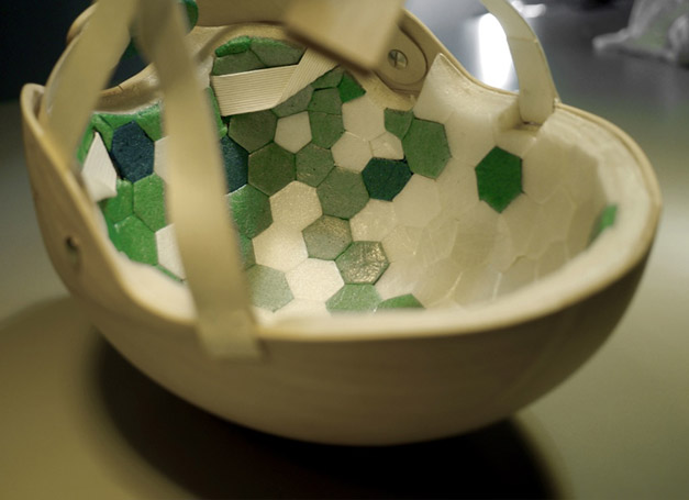 Casque de velo biodegradable