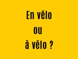 Definition mots velo, bicyclette