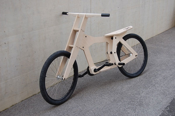 Velo en bois usinage CNC