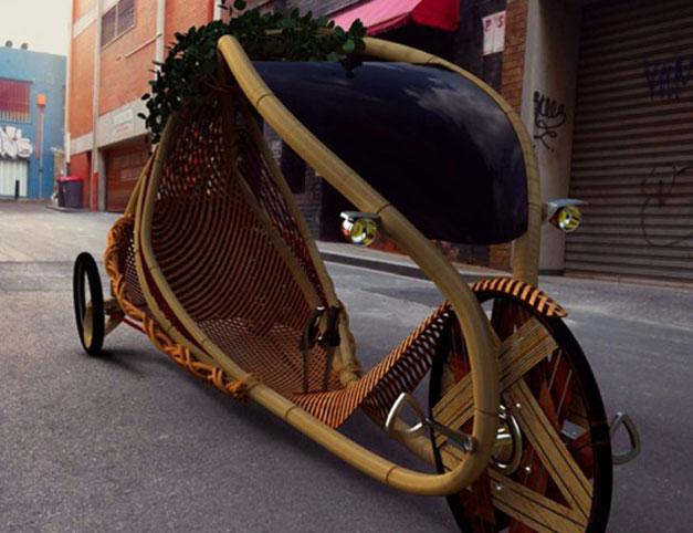 Recumbent bamboo bike Ajiro