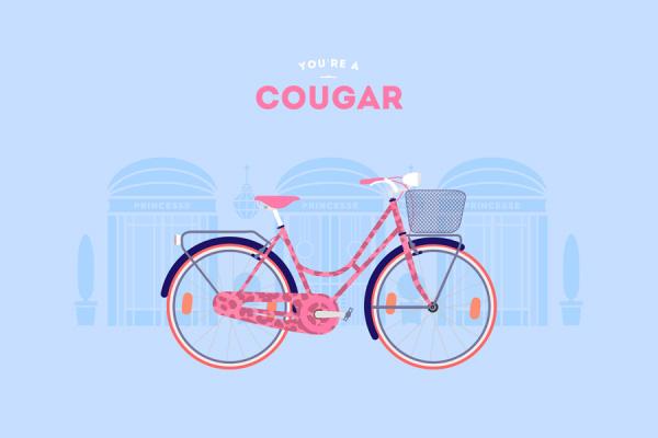 Cougar a velo
