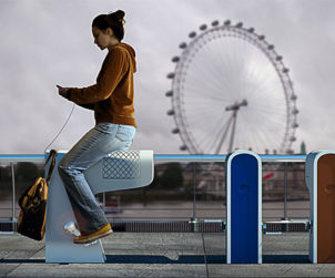 Rechargement smartphone urbain a pedales