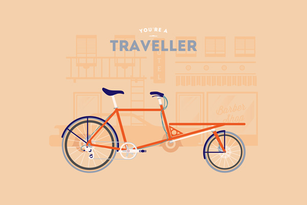 Traveler cyclist