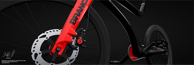 Concept bike 3d rendering