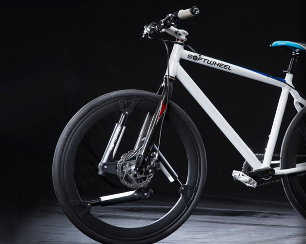 Softwheel fluent la roue suspension v lo et design - Suspension pour velo garage ...