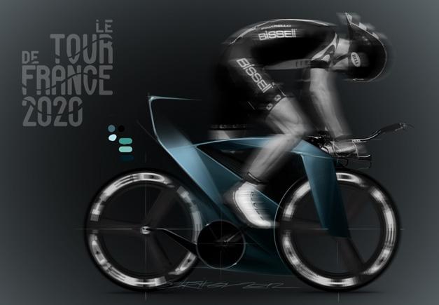 Concept de velo pour le Tour de France