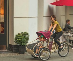 Transport enfants en velo cargo