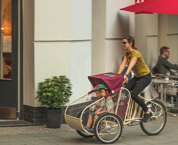Transport enfants en velo cargo