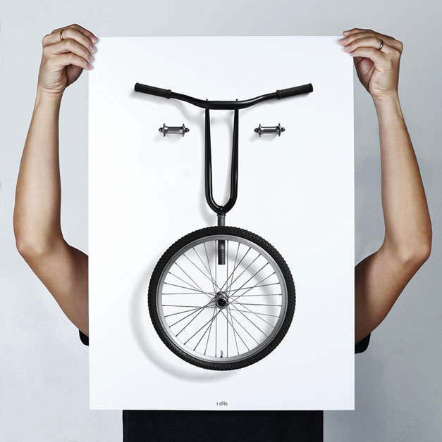 Bikemoji posters by Thomas Yang