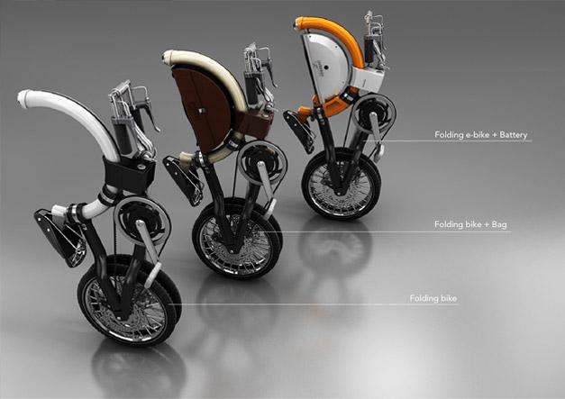 Concept ebike pliant