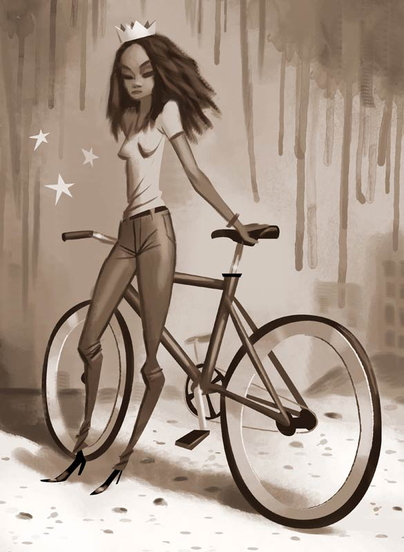 Illustration de velo par ordinateur