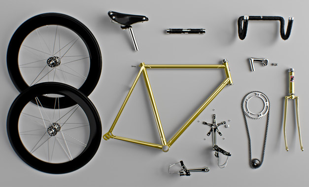 Fixie en pieces detachees