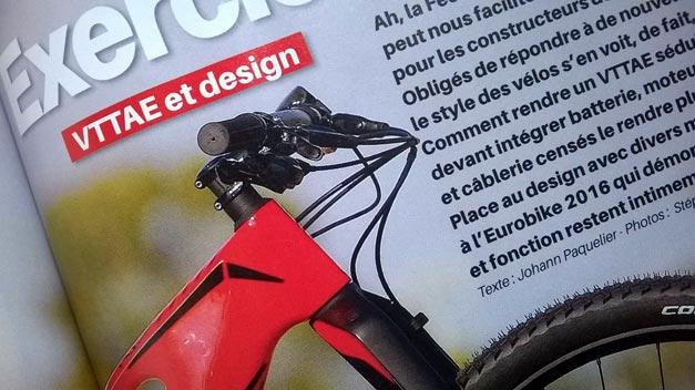 Article de VTT Magazine sur le design par Johann Paquelier