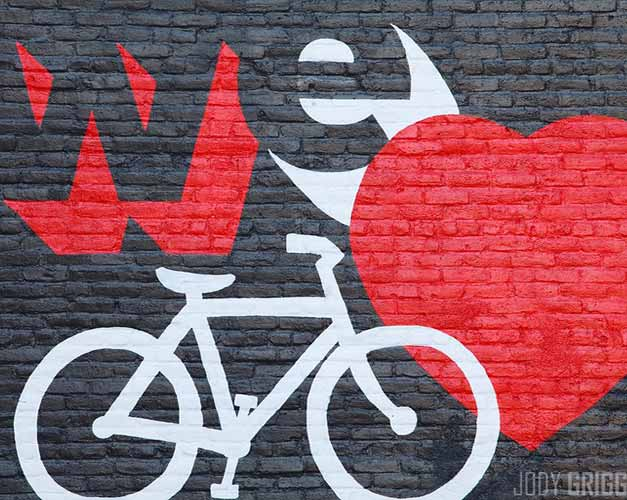 Graffiti amour du velo
