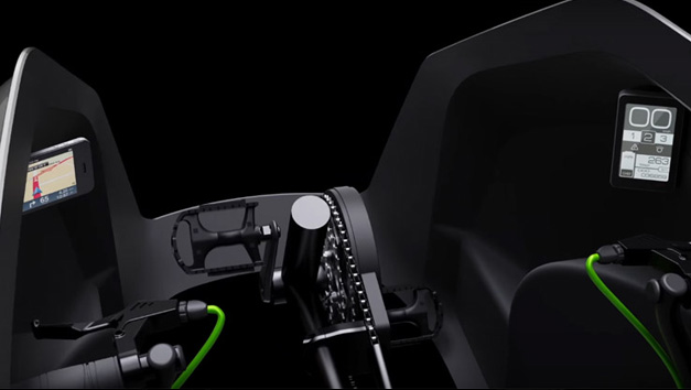 Interieur de velomobile high tech