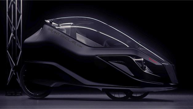 Velomobile futuriste Sinclair Iris
