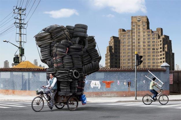Transport de marchandises a velo impossible