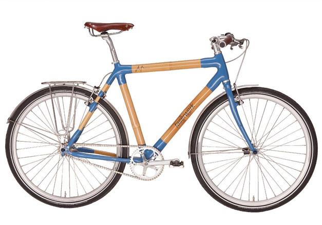 Velo bambou bleu