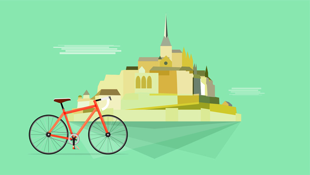 Affiche velo Mont Saint MIchel