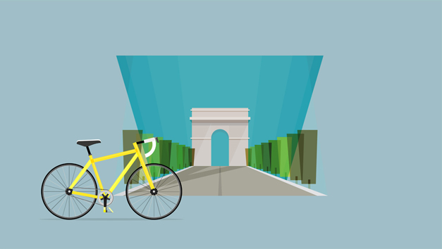 Arc de Triomphe, velo et design