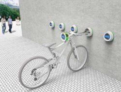 Parking velo mural urbain