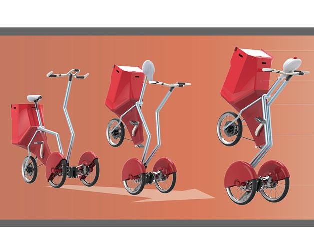 Tricycle pour faire ses courses