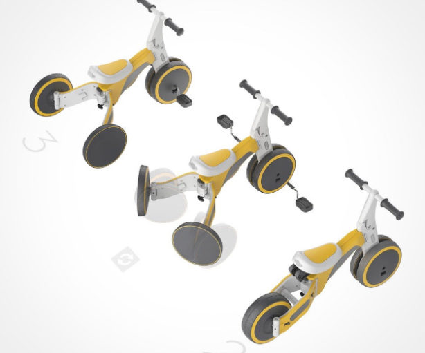 Tricycle transformable en velo enfant