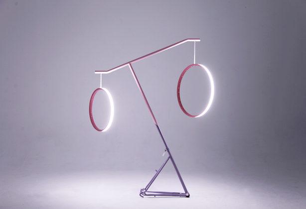 Luminaire velo upcycling