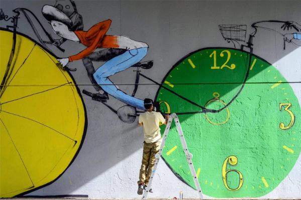 Peinture murale velo