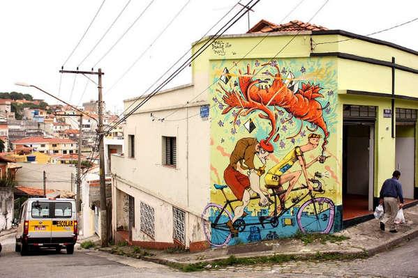 Street art velo
