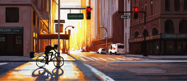 Bicycle digital painting