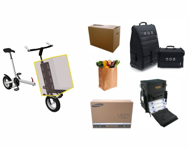 Possibilites de transport a velo cargo