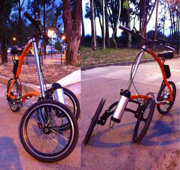 Tricycle pendulaire