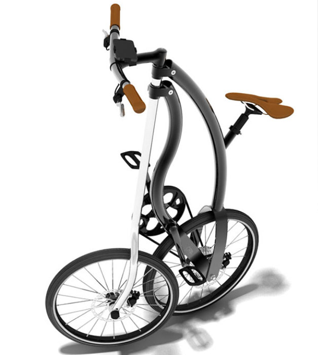 Tricycle urbain pliable