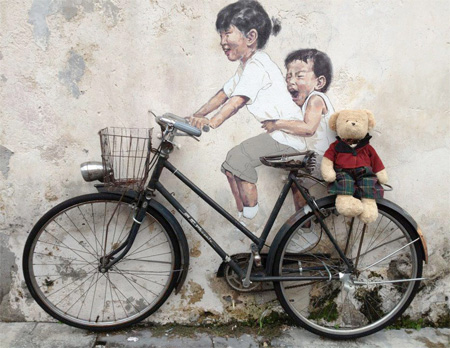 Ernest Zacharevic bike art
